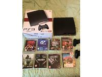 PS3 (120GB) with 2 controllers and 8 games incl Tekken 6 + Black Ops II