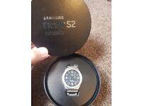 Samsung Gear S2 Classic Smart watch platinum (Rare to UK)