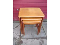 nest of tables teak excellent condition