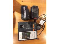 2x Panasonic batteries and charger