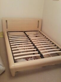 DOUBLE SOLID WOODEN BED FOR SALE