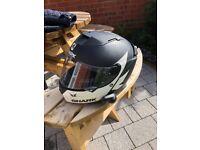 Shark motorbike helmet (large) with Sena Bluetooth