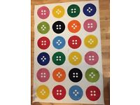 Ikea Colourful Buttons Rug