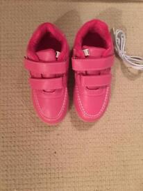 Pink & Blue flashing trainers - size 10.5 toddler - unused