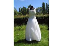 UK Size 12-14 Monsoon Twilight Stunning Ivory Wedding Dress Stunning Lace Detail