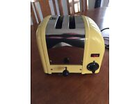 Dualit 2 slice toaster in Yellow