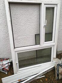 Upvc double glazed window with 2 openers