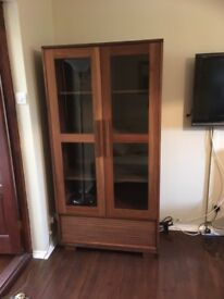 Matching Display Cabinet & 2 Drawer Coffee Table