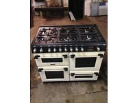 Cannon CH10755GFS - 100cm All Gas Range Cooker with 6 Burner Gas Hob - Cream