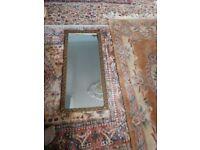 Large Vintage Gold Framed Rectangular Wall Mirror