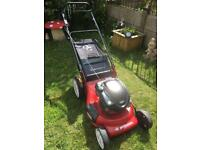 Petrol lawn mower serviced