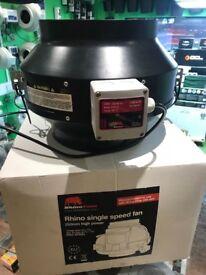 "Cheshunt Hydroponics Store - used 10"" Rhino high power fan 1180m3"