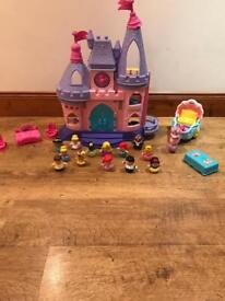 Fisher price little people Disney castle & extras