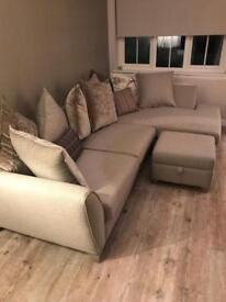 DFS Fabric Corner Sofa, 6 months old and brand new condition
