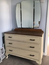 Shabby chic chest of drawers dressing table vintage retro distressed