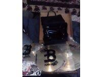 Meinl HCS cymbals and millenium double kick