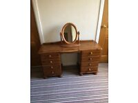 Pine dresser complete with matching mirror