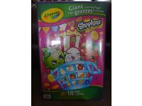 New Sealed Shopkins Giant 18 Colouring Sheets £2 ideal rainy day activity art and craft