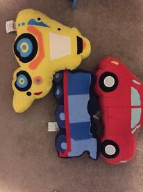 Dunelm Car, Digger and Train Cushions