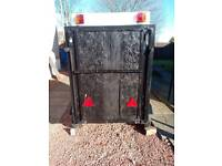 Trailer Box trailer 4ft.long.x4ft.2ins.high.X3ft.6inswide.perspex toof