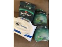 Bundle of Incontinence Bed Pads & Male underwear