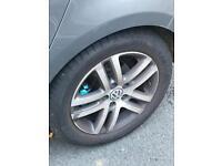 """Genuine Vw 16"""" Atlanta alloys 5x112 with good year tyres"""