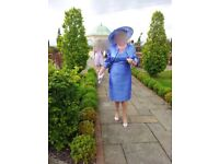 Mother of the bride / groom dress and jacket with matching hat