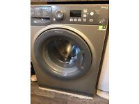 Grey hotpoint washing machine. Just over 12 months old.