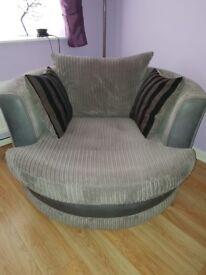 Large swivel cuddle chair