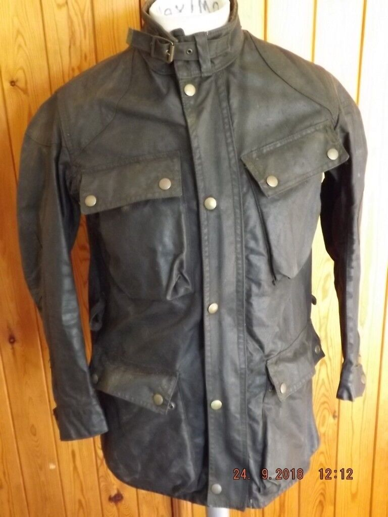 "37495b958b6 Vintage 1970's Belstaff Trialmaster Professional Wax Cotton Motor Cycle  Jacket 36""/90cm."