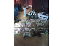 xbox 360 with halo 3 hard drive +24 games +assserories