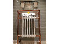 Copper towel rail, vintage towel rail, traditional rasiator,designer radiator