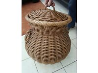 ALI BABA BASKET. EXCELLENT CONDITION. 1 FT 9 IN HIGH. 2 FT ROUND AT WIDEST PART