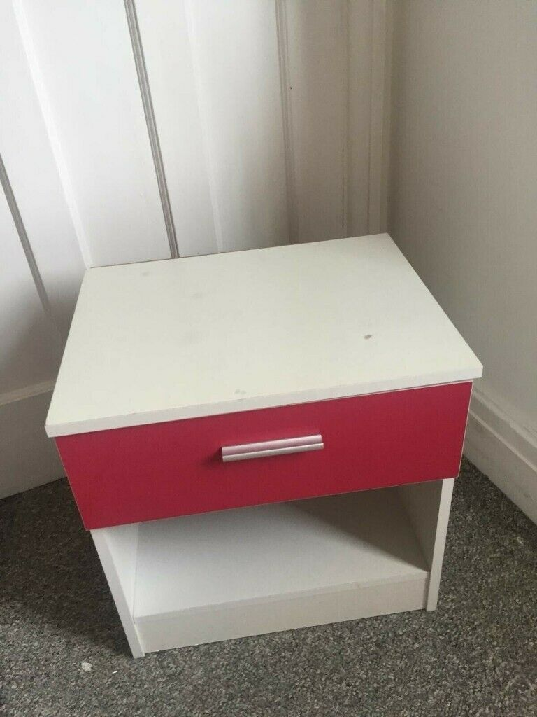Miraculous Ikea Pink White Bedside Table Home Furniture Drawers Bedroom Tv Stand In Northwich Cheshire Gumtree Download Free Architecture Designs Scobabritishbridgeorg