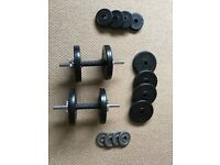 20kg Bodymax Deluxe Rubber Dumbell Weight Kit - Mint Condition!