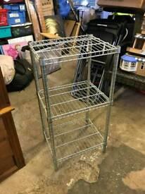 3 tier metal shelf unit