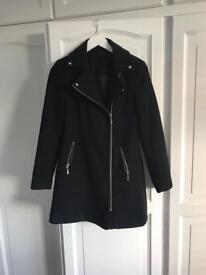 Smart black winter coat