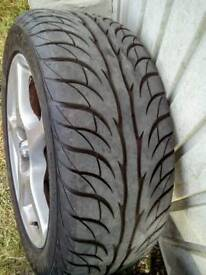 """15"""" Alloy Wheels and Tyres (4)"""