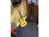 Guitar 3/4 size with tuner and carry case