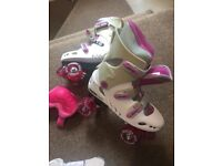 Roller skates hardly used size ( collection only as heavy £10