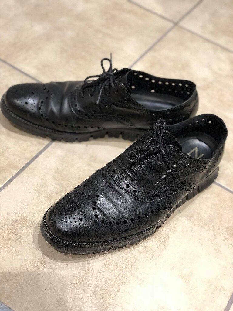 Cole Haan zerogrand black oxford leather shoes Men UK 9