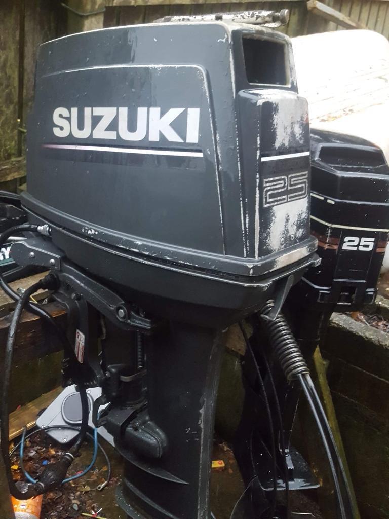 25hp Suzuki 2 stroke outboard boat engine   in Saintfield, County Down    Gumtree