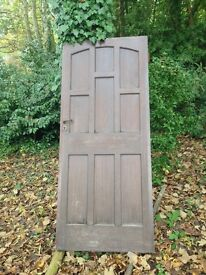 Solid front hard wood door good condition with lock and keys