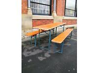 Authentic & Original Bierkeller Tables + Benches