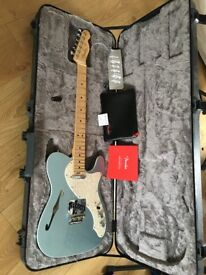 Fender American Tele Telecaster Thinline, 2017 Mystic Ice Blue - AS NEW