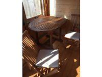 Patio Table & 6 chairs. Hardwood. Lightly used