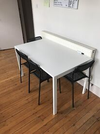 IKEA Dining Table for 4 with chairs