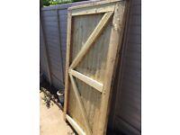 Garden gate wooden door for sale