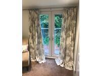 Next white & grey 66 x 90 lined curtains in perfect condition - superking bedding also available