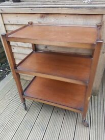 MAKE AN OFFER Vintage Retro Hostess (tea/cocktail/drinks/food) Trolley on wheels. Collection N12